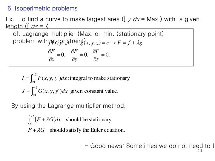 6. Isoperimetric problems