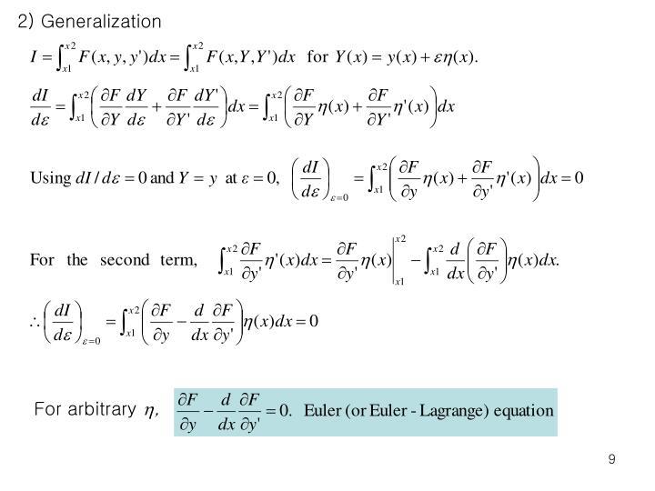 2) Generalization