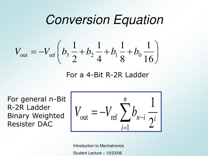 Conversion Equation