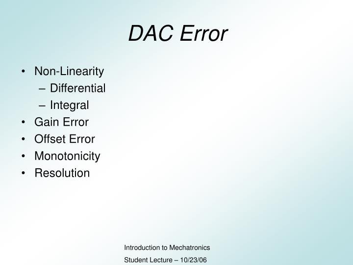 DAC Error