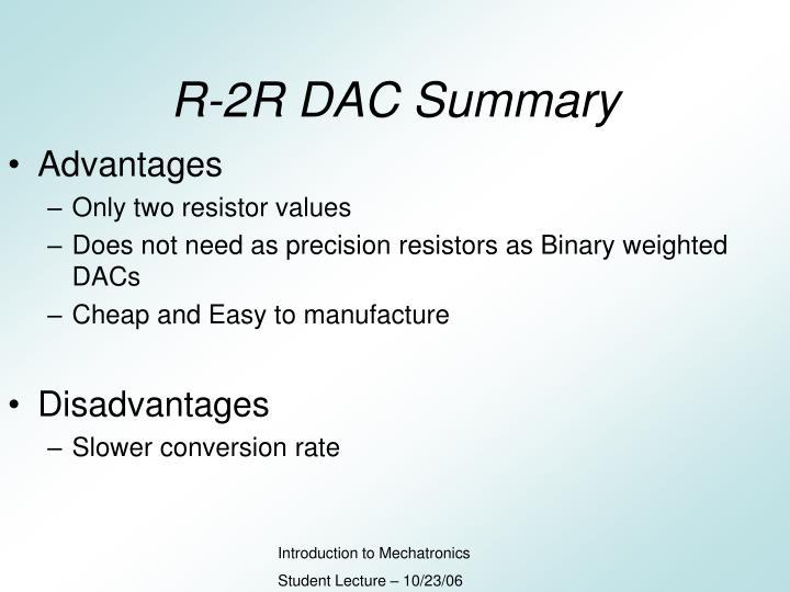 R-2R DAC Summary