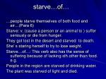 starve of