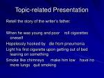 topic related presentation