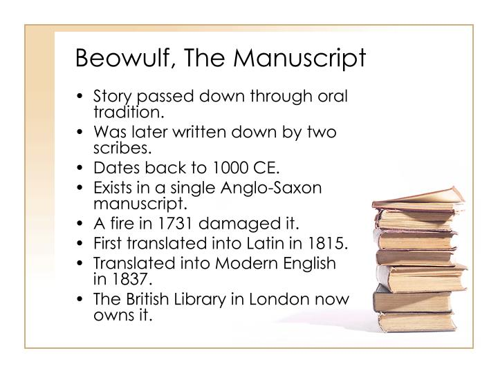 a plot review of the anglo saxon epic beowulf Beowulf was probably created by a scop, a professional anglo-saxon poet much like bards, scops created poems to preserve the myths and histories of their people these poems would be performed from memory at feasts or other public gatherings as part of an oral story-telling tradition sometime in the eleventh century,.