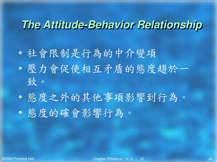 The Attitude-Behavior Relationship