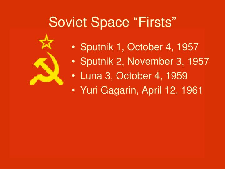 """Soviet Space """"Firsts"""""""