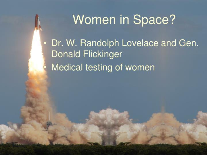 Women in Space?