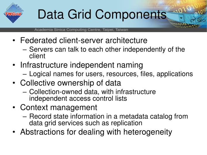 Data Grid Components