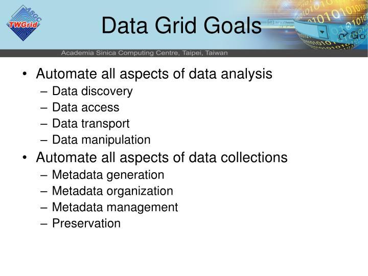 Data Grid Goals