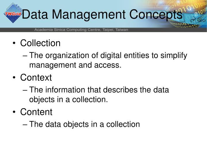 Data Management Concepts