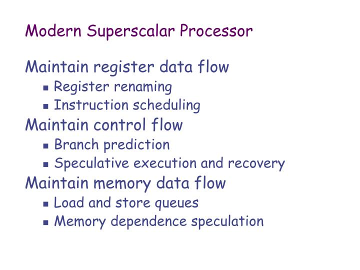 Modern Superscalar Processor