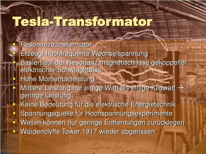 Tesla-Transformator