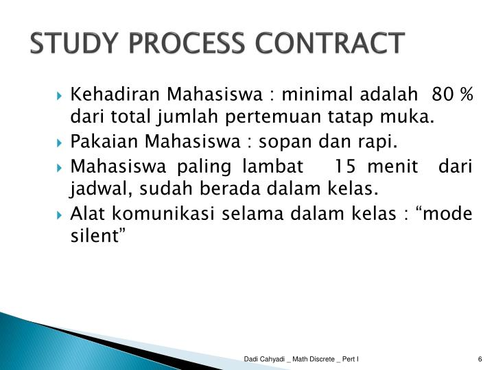 STUDY PROCESS CONTRACT