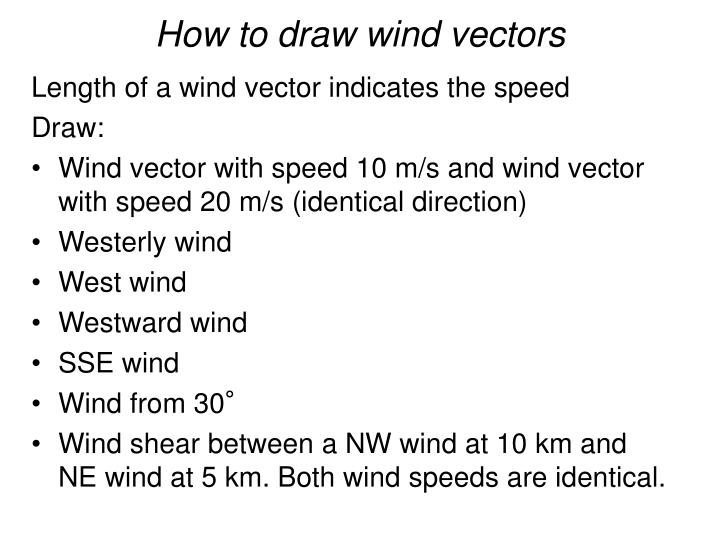 How to draw wind vectors