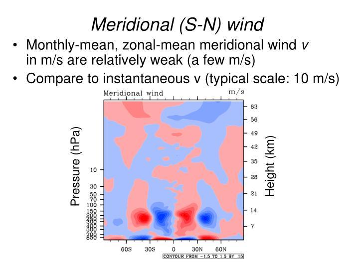Meridional (S-N) wind