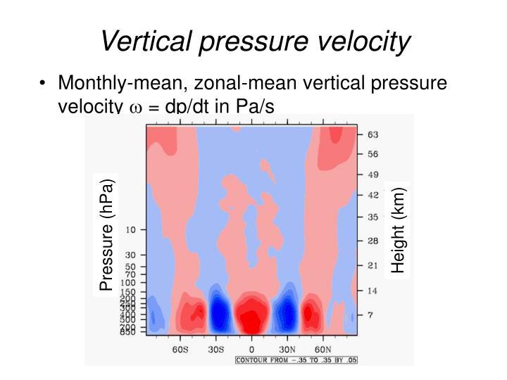 Vertical pressure velocity