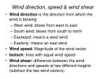 wind direction speed wind shear