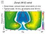 zonal w e wind