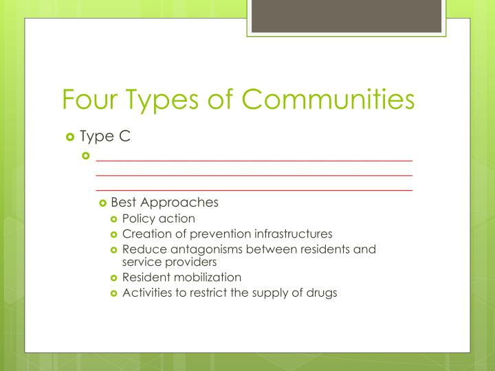 Four Types of Communities