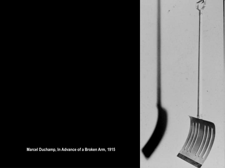 Marcel Duchamp, In Advance of a Broken Arm, 1915