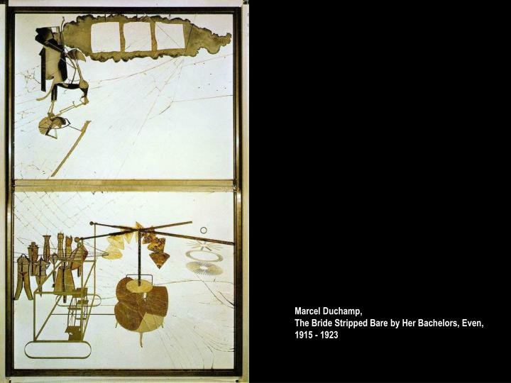 Marcel Duchamp,                                                 The Bride Stripped Bare by Her Bachelors, Even,   1915 - 1923