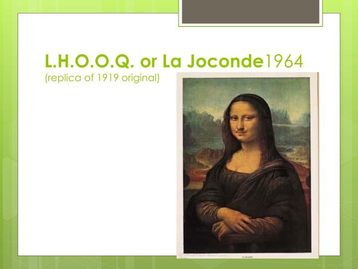 L.H.O.O.Q. or La Joconde
