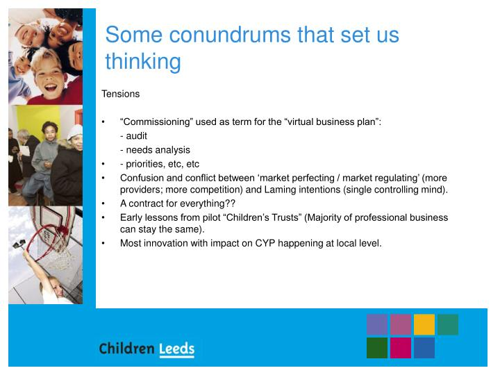 Some conundrums that set us thinking