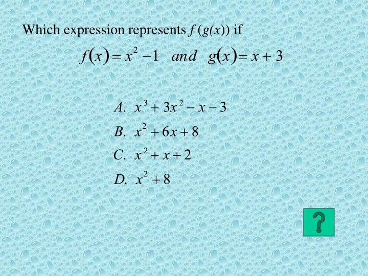 Which expression represents