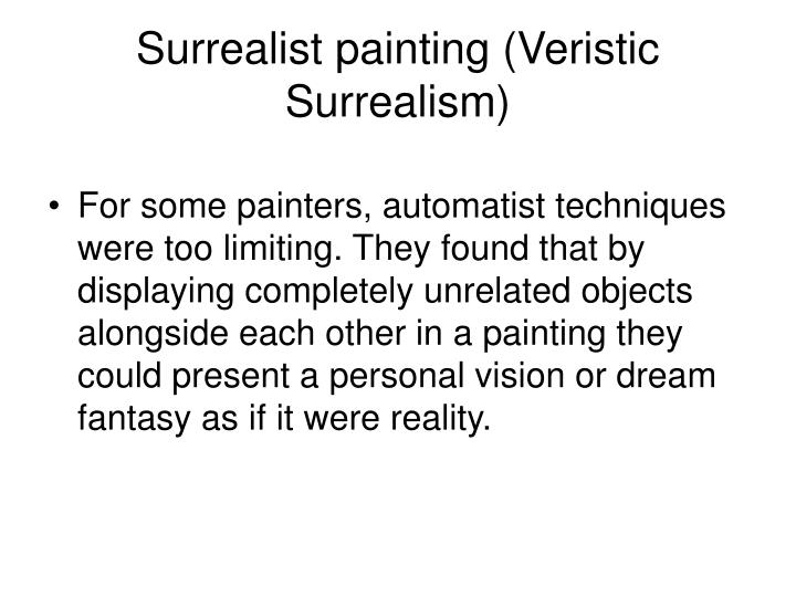 Surrealist painting (Veristic Surrealism)