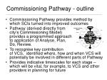 commissioning pathway outline