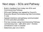 next steps scis and pathway