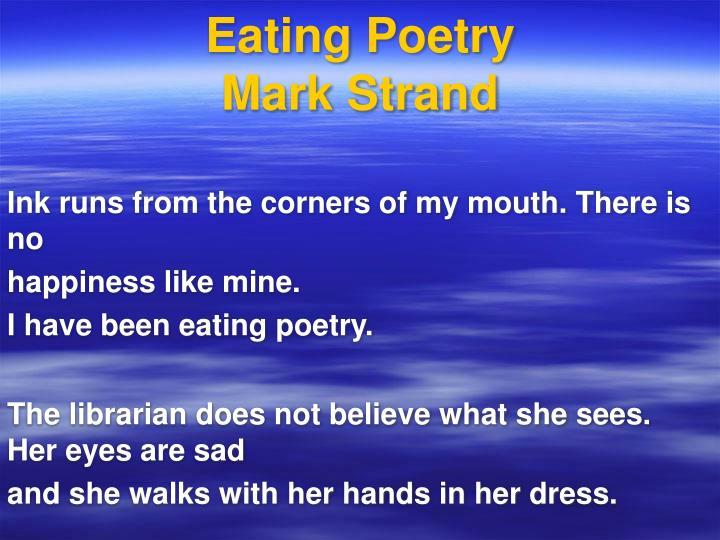 Eating Poetry