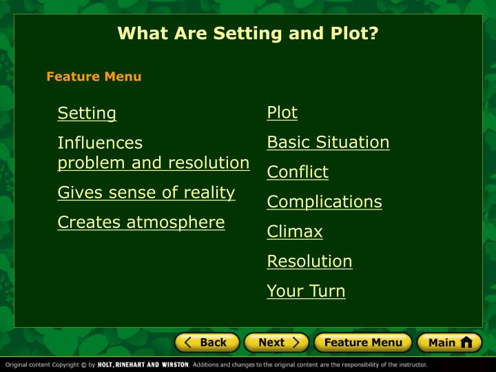 What Are Setting and Plot?
