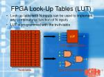 fpga look up tables lut
