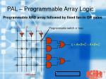 pal programmable array logic