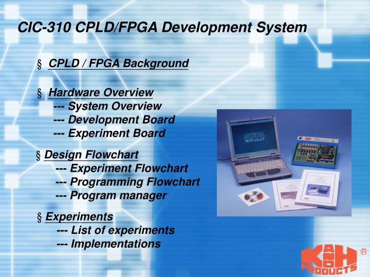 CIC-310 CPLD/FPGA Development System