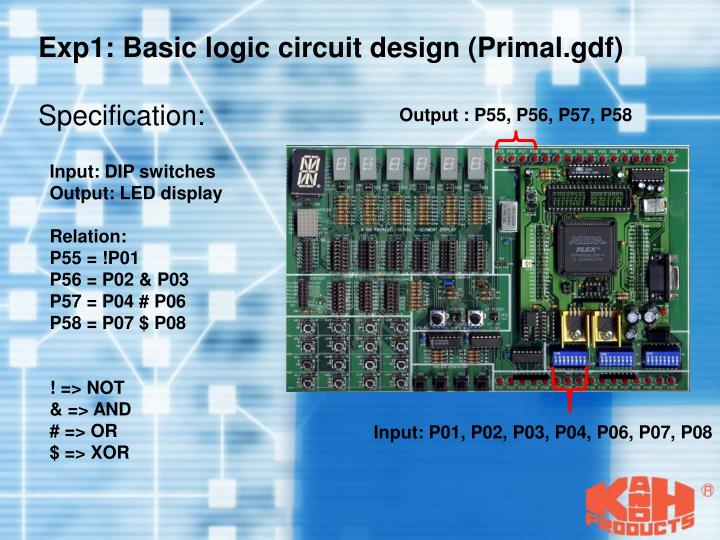 Exp1: Basic logic circuit design (Primal.gdf)