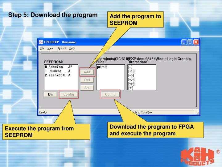 Step 5: Download the program