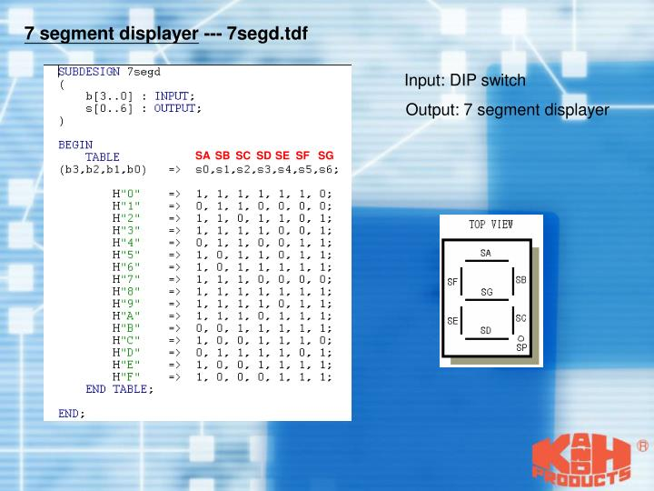 7 segment displayer