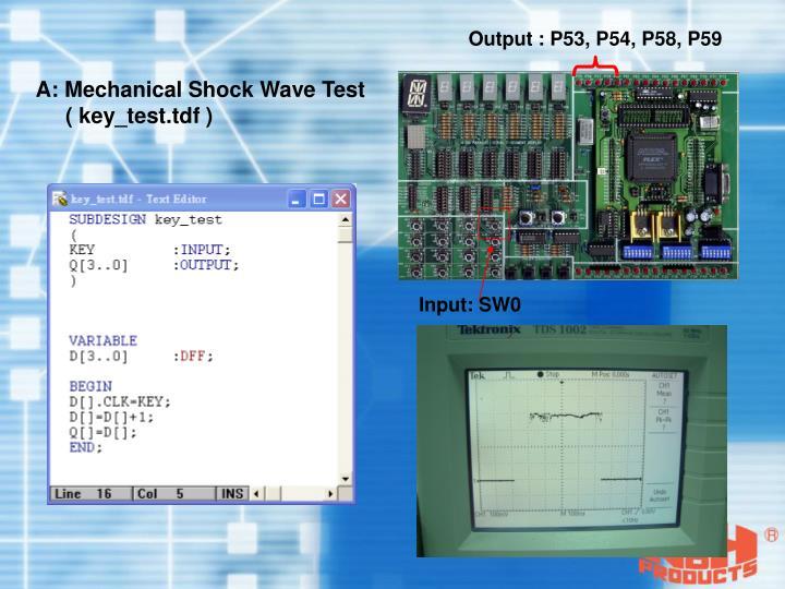 Output : P53, P54, P58, P59