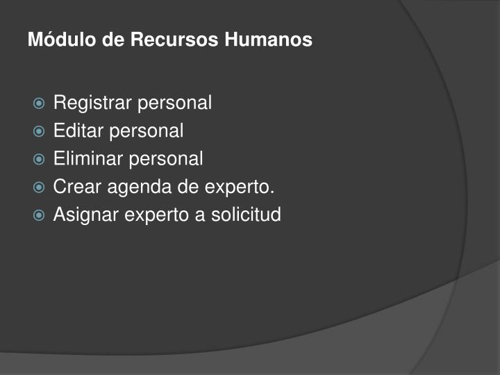 Módulo de Recursos Humanos