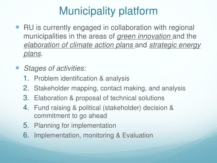 Municipality platform