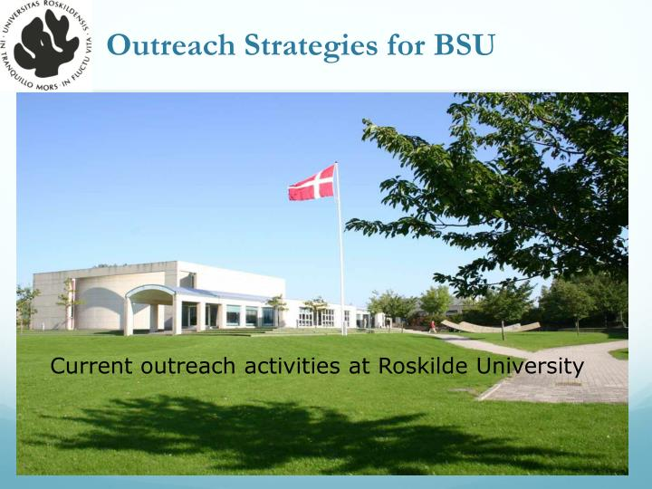 Outreach Strategies for BSU