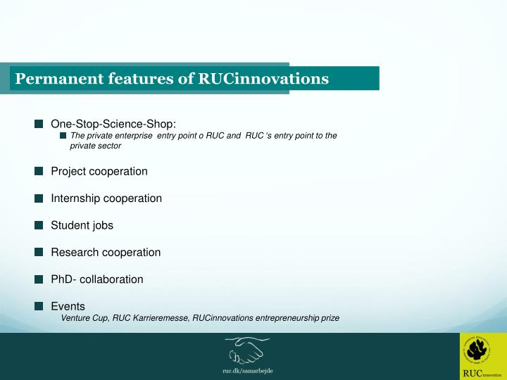 Permanent features of RUCinnovations