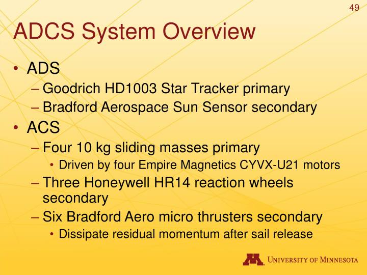 ADCS System Overview