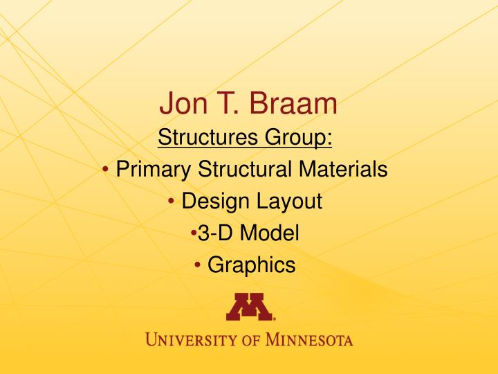 Jon T. Braam