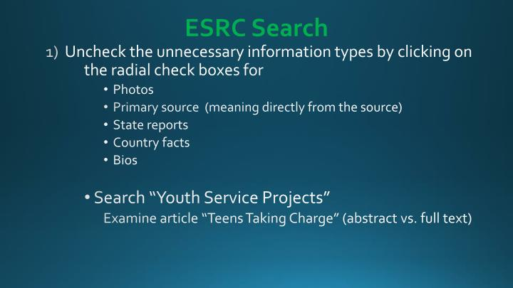 ESRC Search