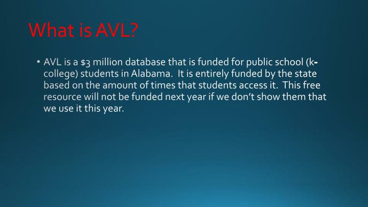 What is avl