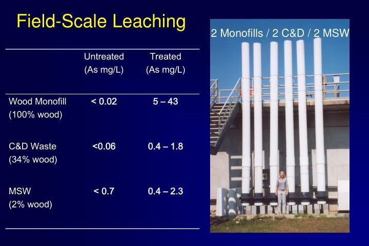 Field-Scale Leaching