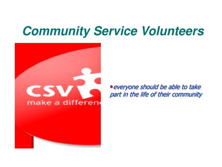 Community Service Volunteers